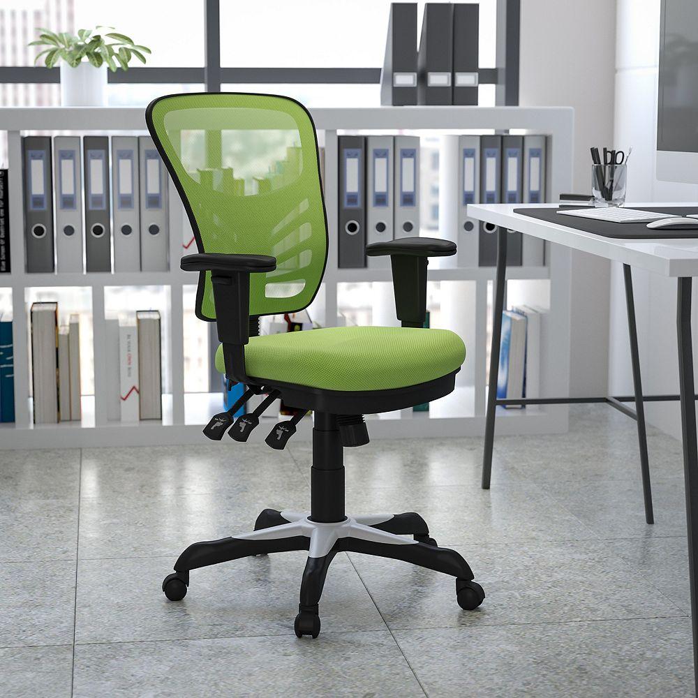 Flash Furniture Chaise verte en maille à dossier mi-hauteur