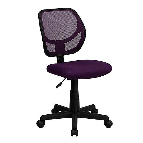 Mid-Back Purple Mesh Swivel Task Chair