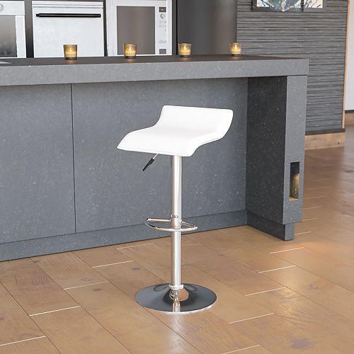 White Vinyl Barstool