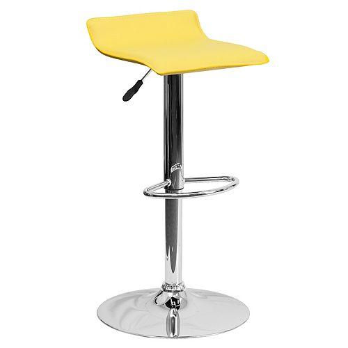 Yellow Vinyl Barstool