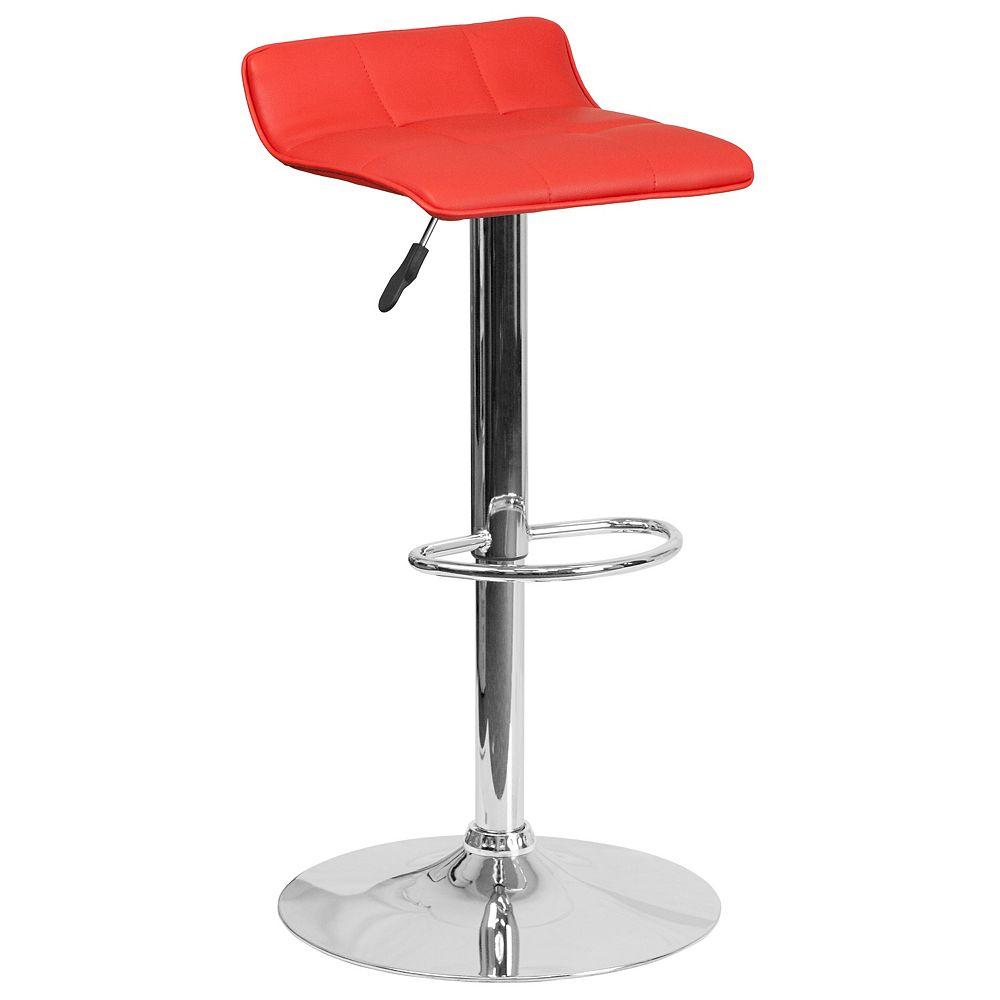 Flash Furniture Red Vinyl Barstool