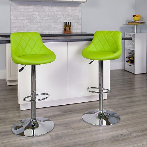 Green Vinyl Barstool