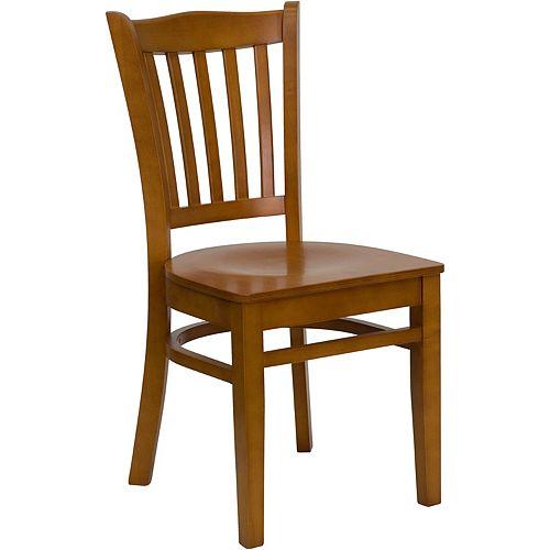 Flash Furniture HERCULES Series Vertical Slat Back Cherry Wood Restaurant Chair