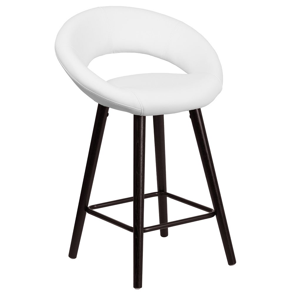 "Flash Furniture 24""H White Vinyl Counter Stool"