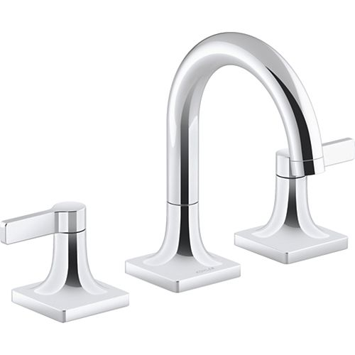 Venza 8-inch Widespread 2-Handle Bathroom Faucet in Polished Chrome