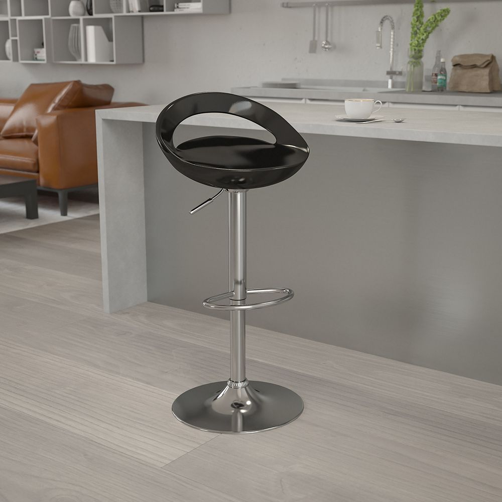 Flash Furniture Black Vinyl Barstool