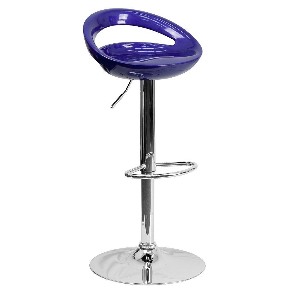 Flash Furniture Blue Vinyl Barstool