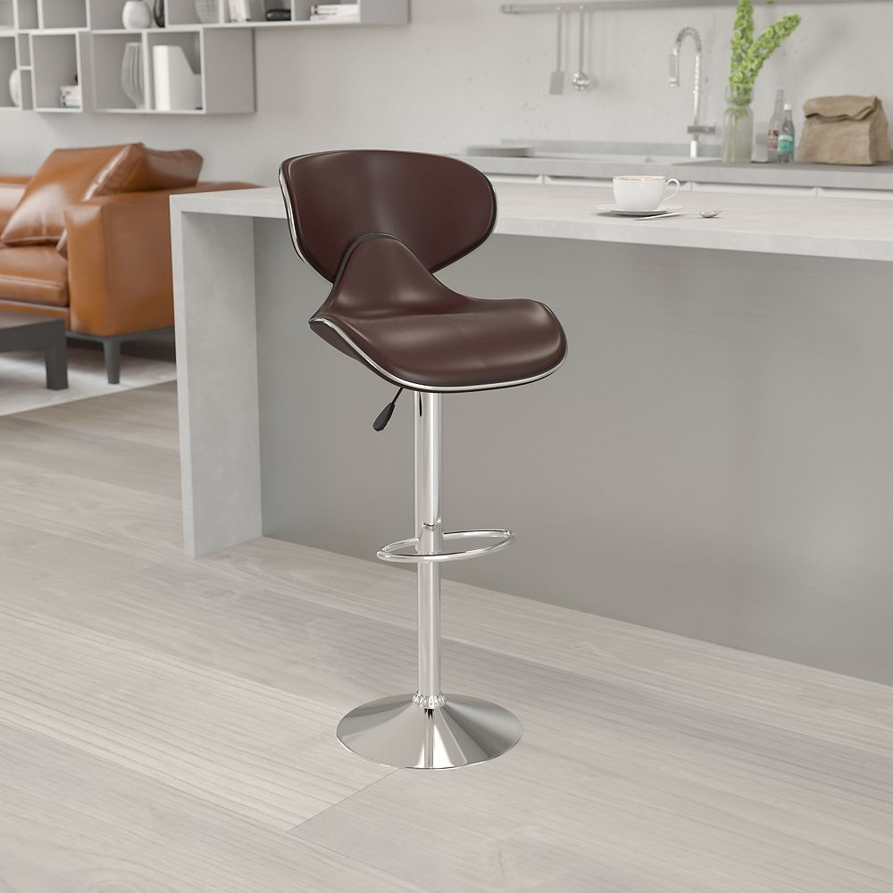 Flash Furniture Brown Vinyl Barstool