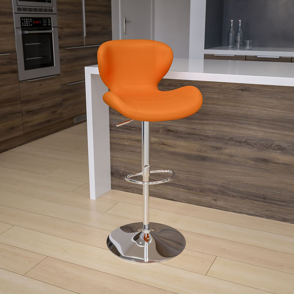 Flash Furniture Orange Vinyl Barstool