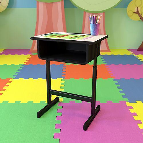 Grey Open Front Desk