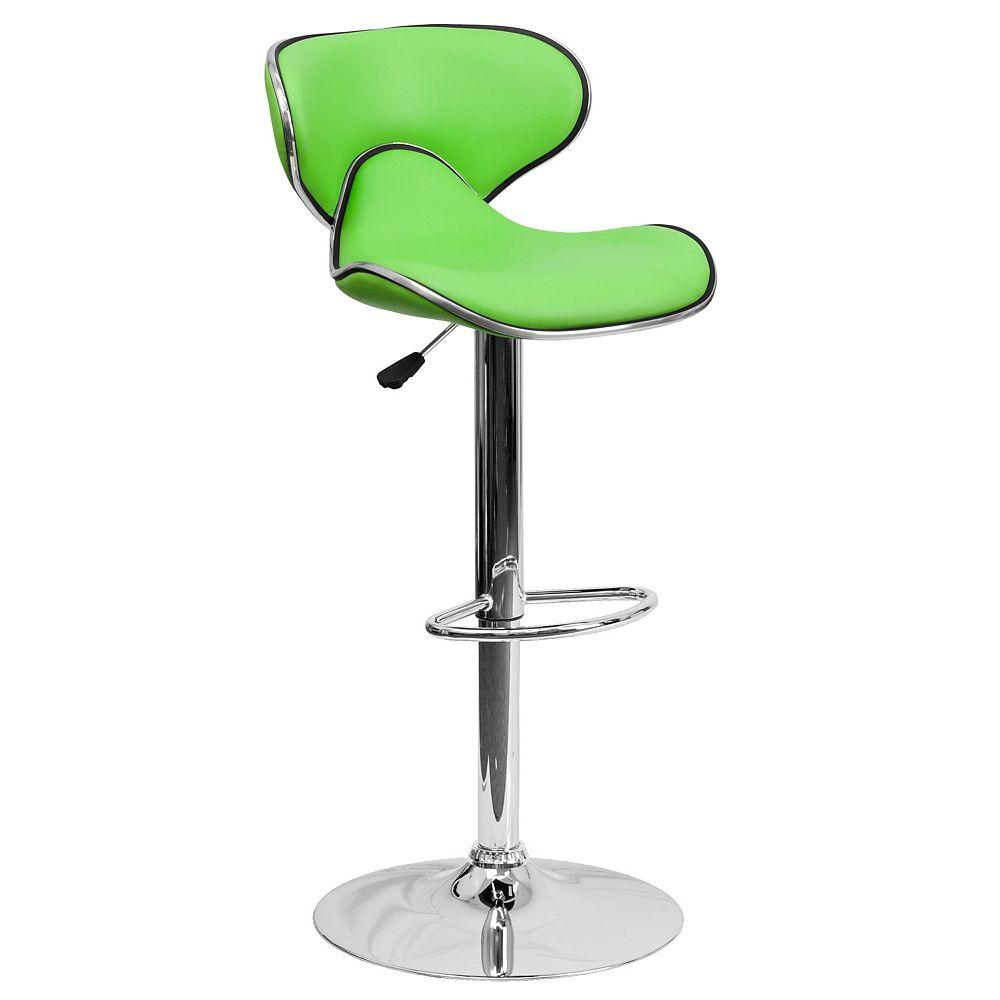 Flash Furniture Green Vinyl Barstool