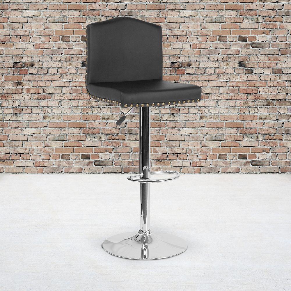 Flash Furniture Black Leather Barstool