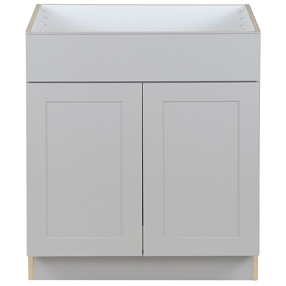 Edson 20 inch W x 20.20 inch H x 20.20 inch D Shaker Style Assembled Kitchen  Sink Base Cabinet/Cupboard in Taupe Grey BS20