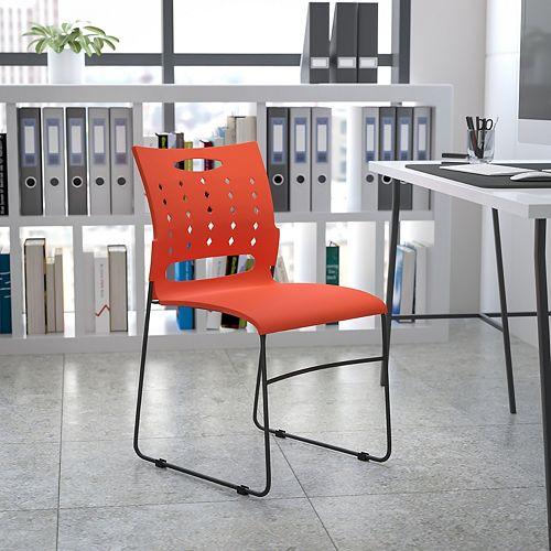 Orange Plastic Stack Chair