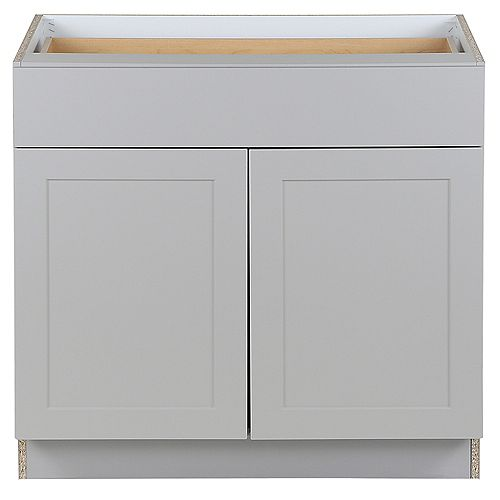 Edson Grey 36 inch W x 34.5 inch H x 24.5 inch D Base Cabinet B36