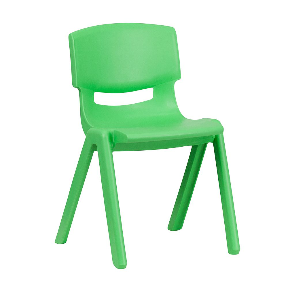 Flash Furniture Green Plastic Stack Chair