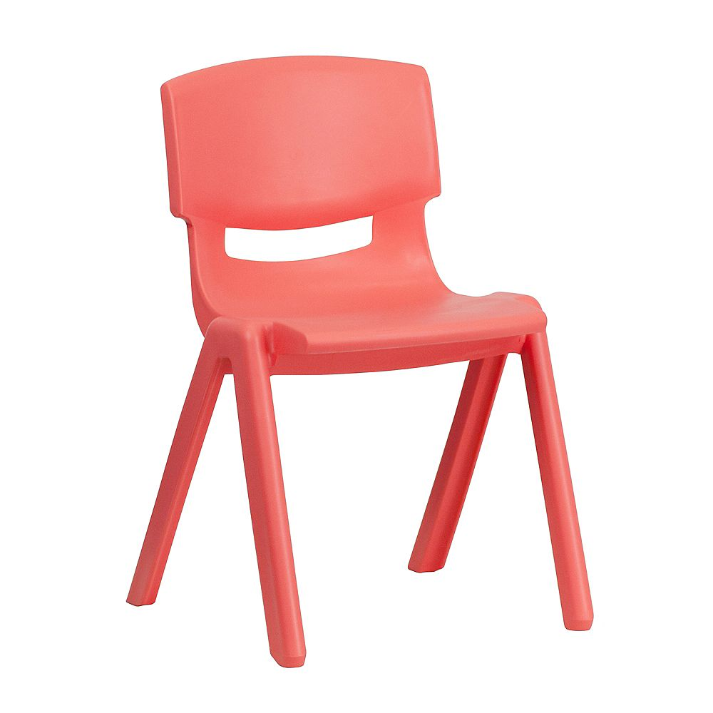 Flash Furniture Red Plastic Stack Chair
