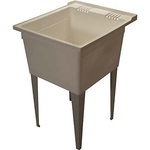 8 Gal. Floor-Mounted Multipurpose Sink In White
