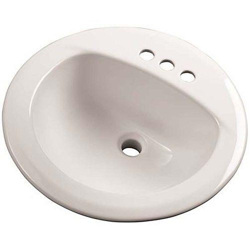 Lavabo À Rebord Incorporé De 19 Po, Blanc