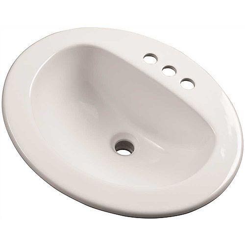 Lavabo À Rebord Incorporé De 19,25 Po, Blanc