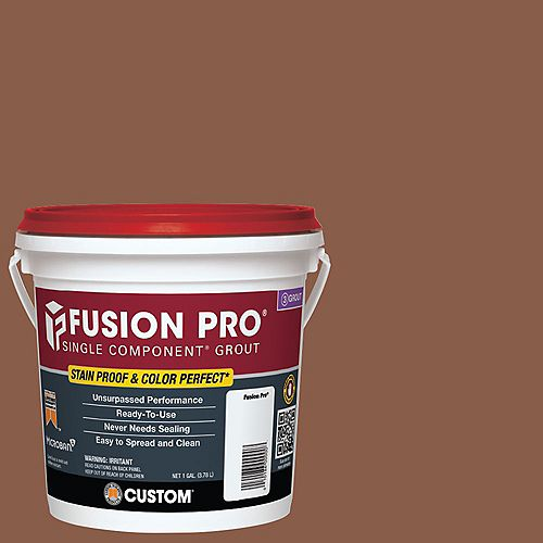Custom Building Products Fusion Pro Single Component Grout for Tile and Stone #50 Nutmeg - 1 gal.