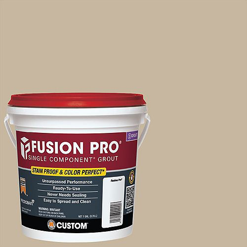 Fusion Pro Single Component Grout for Tile and Stone #172 Urban Putty - 1 gal.
