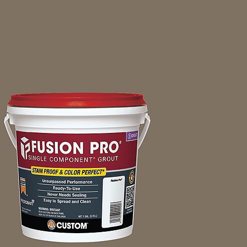 Custom Building Products Fusion Pro Single Component Grout for Tile and Stone #544 Rolling Fog - 1 gal.