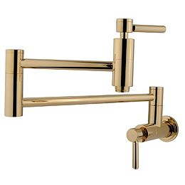 Wall-Mounted Potfiller in Polished Brass