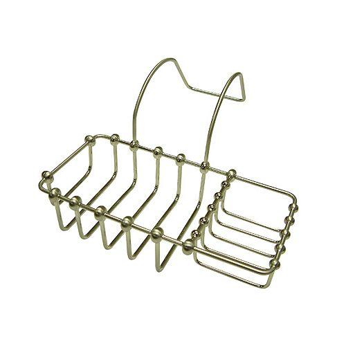 Kingston Brass Porte-éponge et porte-savon pour baignoire sur pieds cambrés, nickel brossé