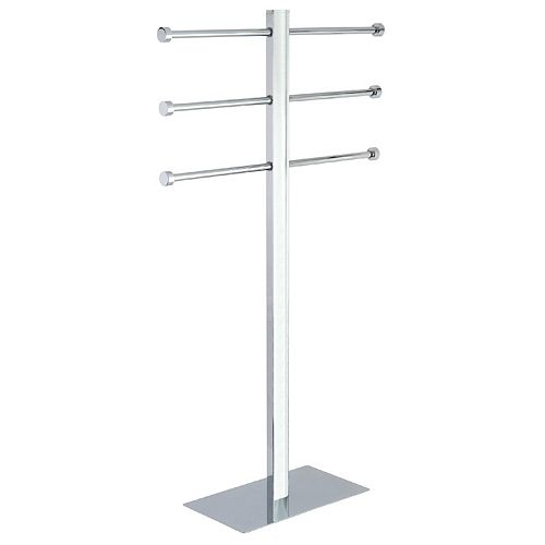 Kingston Brass Modern Freestanding Towel Stand in Polished Chrome