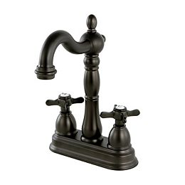 Victorian Cross 2-Handle Bar Faucet in Oil Rubbed Bronze