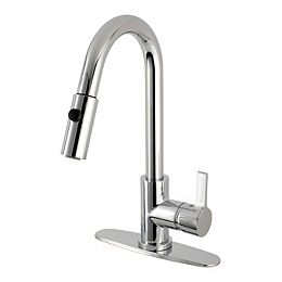Single-Handle Pull-Down Sprayer Kitchen Faucet in Chrome