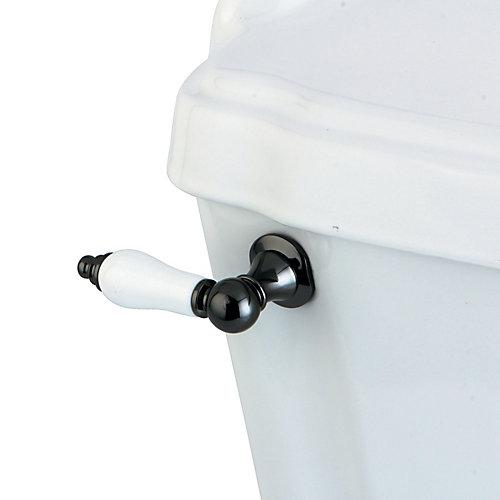 Levier en porcelaine de réservoir de chasse deau, acier inox noir