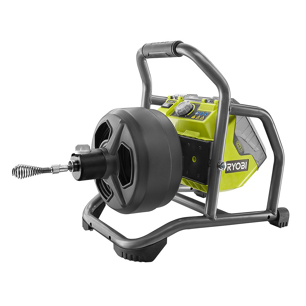 RYOBI 18V ONE+ Hybrid Drain Auger Kit with 50 ft. Cable, 2.0 Ah Battery, 18V Charger, and Accessories