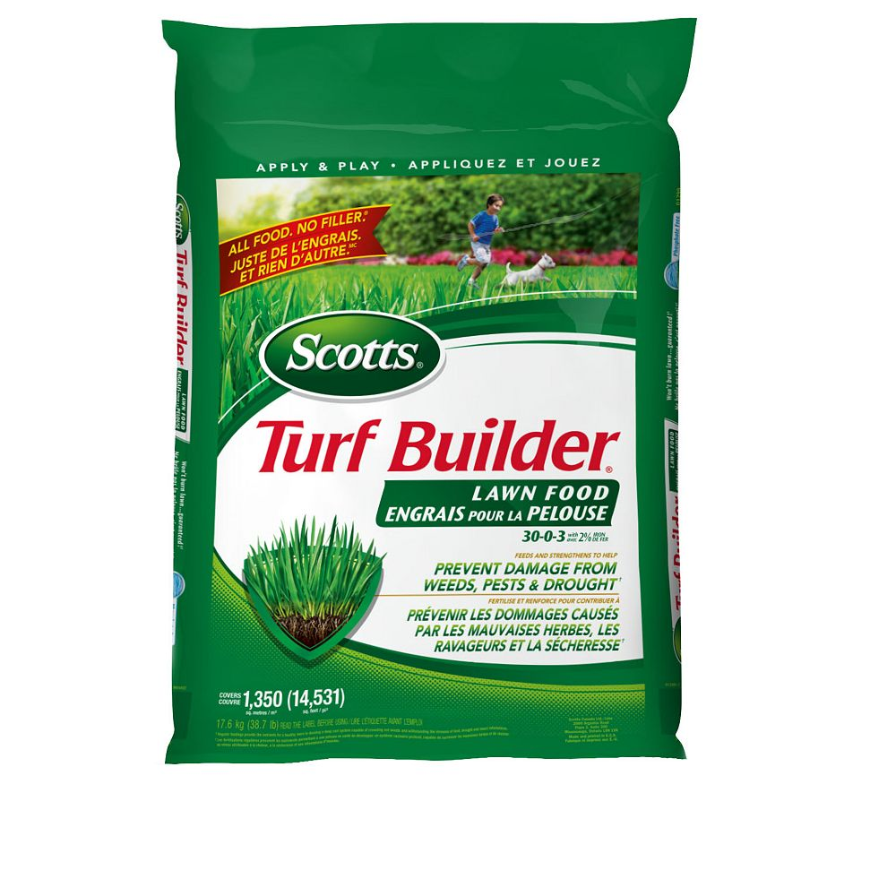 Scotts Turf Builder Lawn Food 30-0-3 17.6 kg    (1,350 m², 14,531 ft²)