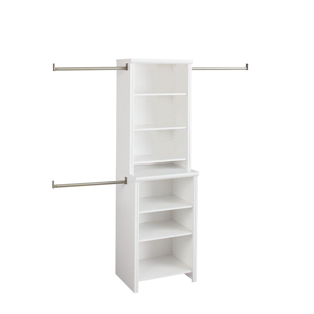 ClosetMaid Impressions 25 in. White Deluxe Hutch Closet Kit