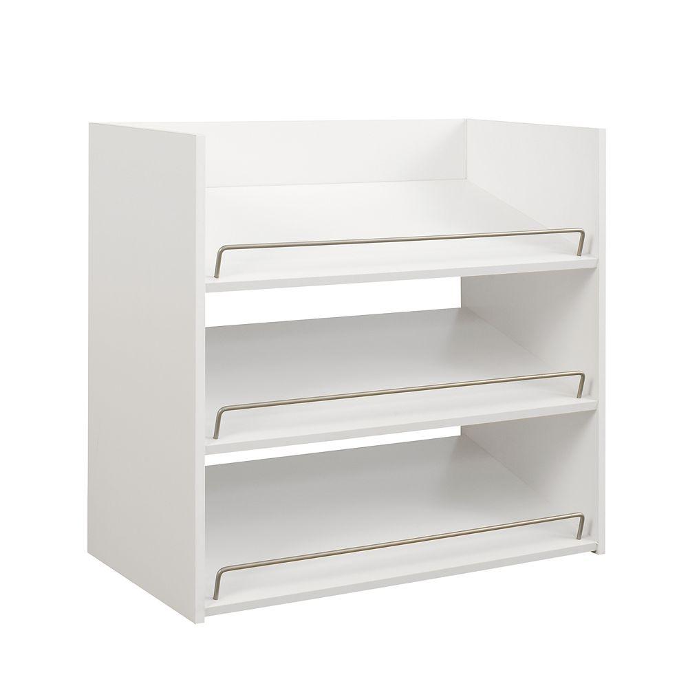 ClosetMaid Impressions 3-Shelf Shoe Organizer in White