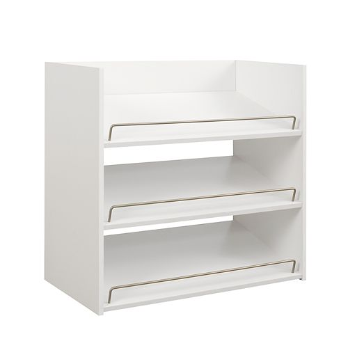 ClosetMaid Impressions 3-Shelf Shoe Organizer in White