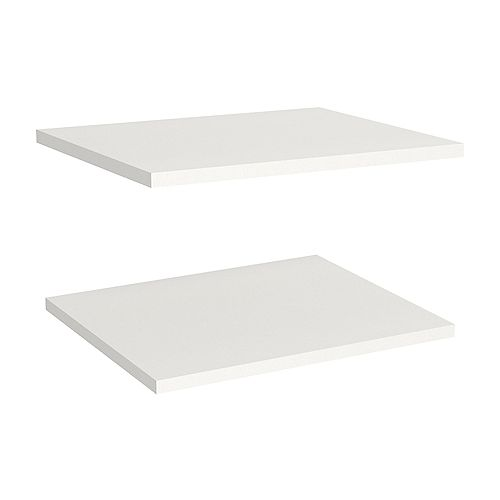 ClosetMaid Impressions 16 in. Extra Shelves in White (2 Pack)
