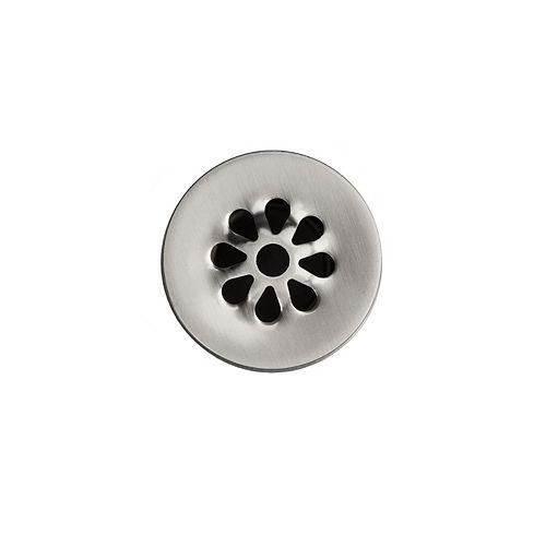 1.5 in. Non-Overflow Grid Bathroom Sink Drain in Brushed Nickel