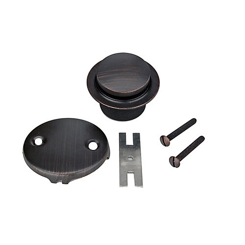 Tub Drain Trim and Two-Hole Overflow Cover for Bath Tubs in Oil Rubbed Bronze