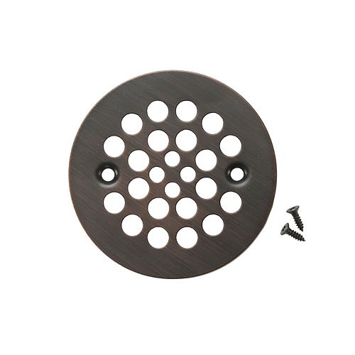 4.25 in. Round Shower Drain Cover in Oil Rubbed Bronze