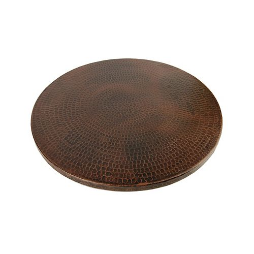 18 in. Copper Lazy Susan in Oil Rubbed Bronze