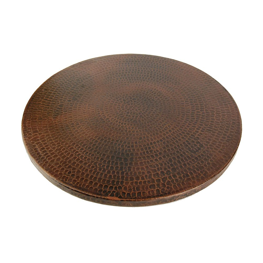 Premier Copper Products 20 in. Copper Lazy Susan in Oil Rubbed Bronze
