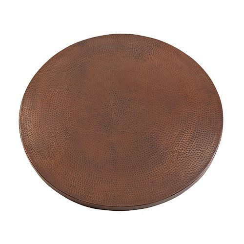 30 in. Round Hand Hammered Copper Table Top in Oil Rubbed Bronze