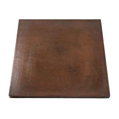 30 in. Square Hand Hammered Copper Table Top in Oil Rubbed Bronze