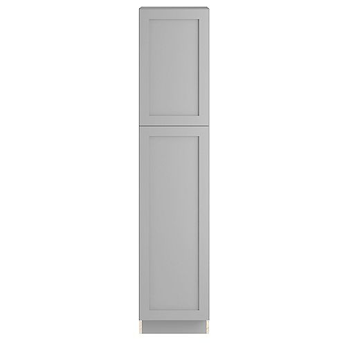 Edson 18-inch W x 84-inch H x 24.5-inch D Shaker Style Assembled Kitchen Pantry Cabinet/Cupboard in Taupe Grey with Adjustable Shelves (T188424L)