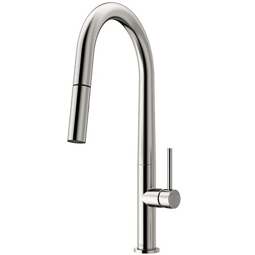 Greenwich Single-Handle Pull-Down Sprayer Kitchen Faucet in Stainless Steel