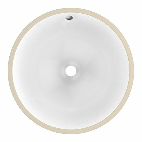 American Imaginations 17-inch W 17-inch D CUPC Certified Round Undermount Sink In White Color