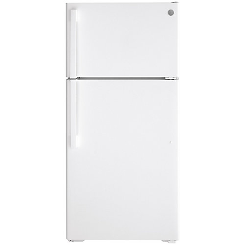 15.6 Cu. Ft. Top-Mount No Frost Refrigerator in White